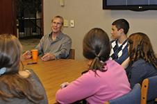 Armstrup meets with Environmental Fellows