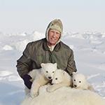 Steven Amstrup with polar bears